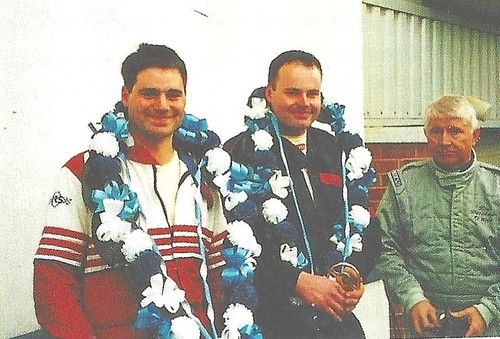 Roger and Kevin Evans 3rd and class winners Brands Mini Enduro 2002