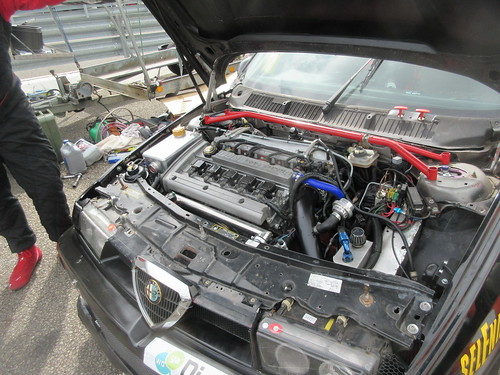 Fiat 20v engine in Scott Austin's 155 in 2020