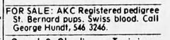 1973 - George Hundt dog breeder - South Bend Tribune - 6 Mar 1973