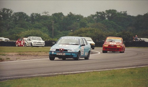 Ron Davidson's 155 leads the mid field way at Combe 1995 Photo Gavin Powell