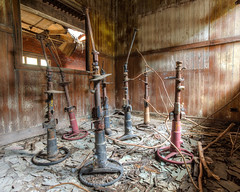"""Abandoned steering wheels in a bakery office, Louisville, KY • <a style=""""font-size:0.8em;"""" href=""""http://www.flickr.com/photos/25078342@N00/51348780615/"""" target=""""_blank"""">View on Flickr</a>"""