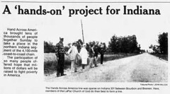1986 - LaPaz Hands Across America - South Bend Tribune - 26 May 1986