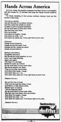 1986 - Hands Across America song - South Bend Tribune - 25 May 1986