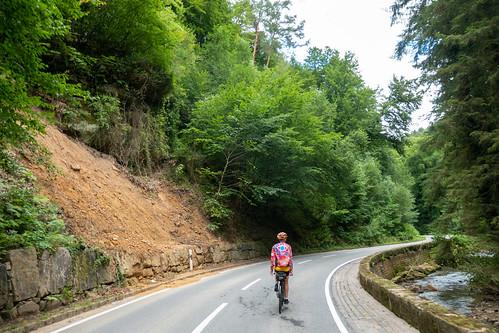 Cleaned landslide in Mullerthal
