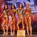 Women's Bikini - Open Class F 4th Babbitt 2nd Thompson 1st Mcintyre 3rd Roland