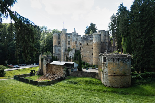 Beaufort castle wall collapse