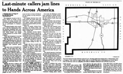 1986 - Hands Across America - South Bend Tribune - 22 May 1986