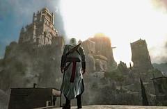 Altair views Masyaf Fortress.
