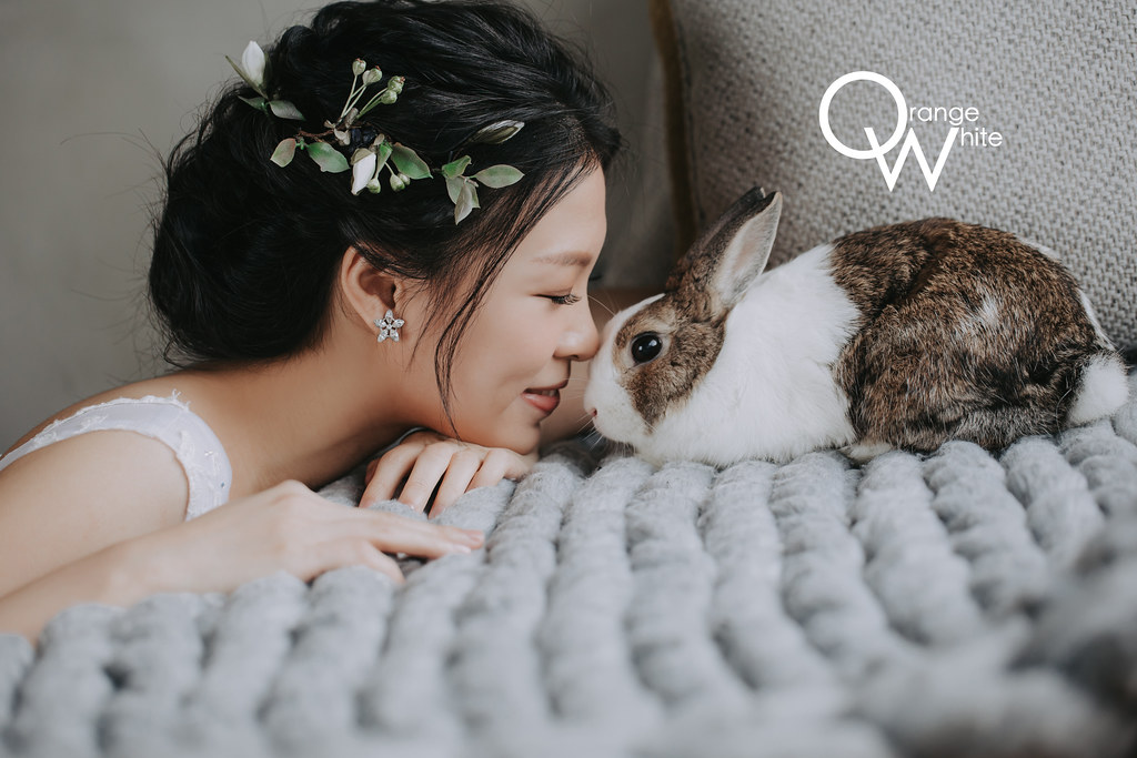 Anita俐婷,Fantasia Wedding Dress,橘子白,自助婚紗,自主婚紗,寵物婚紗, 寵物寫真,便宜,兔子, 黑森林,ATTIC 80 攝影場地出租
