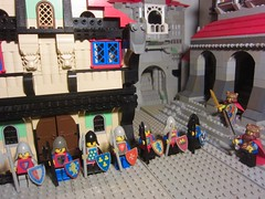 Classic Castle: testing the best soldiers in all alliance in friendly duels personal melee combat against the rulers of the three Kingdoms (medieval LEGO MOC knight Kingdom minifigures FOL)