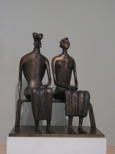 King and Queen 1952-3, cast 1957, Henry Moore 1898-1986, National Collection of British Art, Tate Britain, Millbank, City of Westminster, London, SW1P 4RG (1)