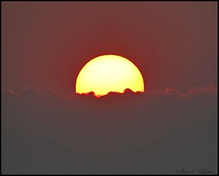 August 5, 2021 Smoke sunset above the clouds. (Bill Hutchinson)
