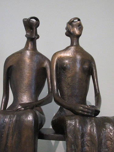 King and Queen 1952-3, cast 1957, Henry Moore 1898-1986, National Collection of British Art, Tate Britain, Millbank, City of Westminster, London, SW1P 4RG (4)