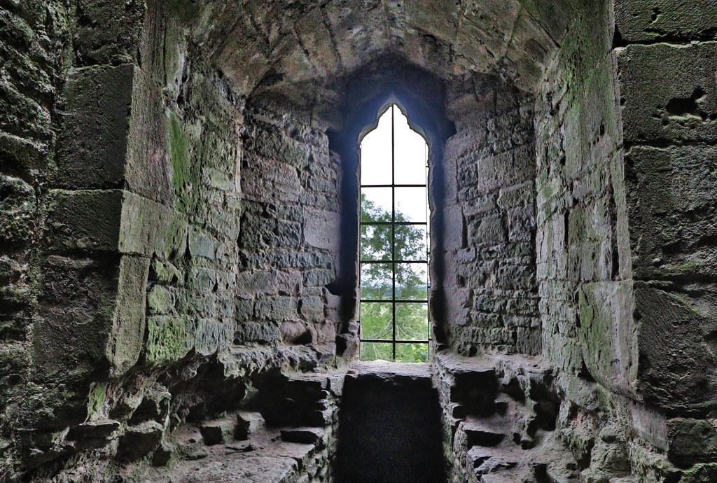 Ludlow Castle -The Halo Window.