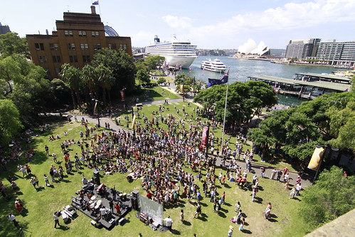 Busking at Circular Quay Sydney 2009