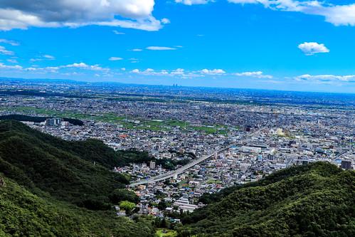 Výhledy na Gifu a Nagoyu