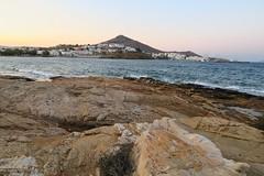 Vue sur le port. Grèce