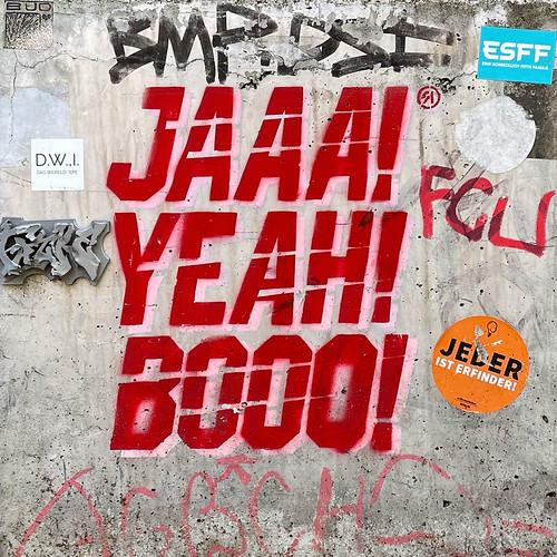 JAAA! YEAH! BOOO!