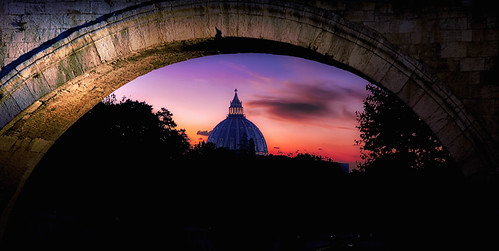 St. Peter's Basilica from the Tiber river
