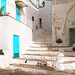The vico with turquoise doors
