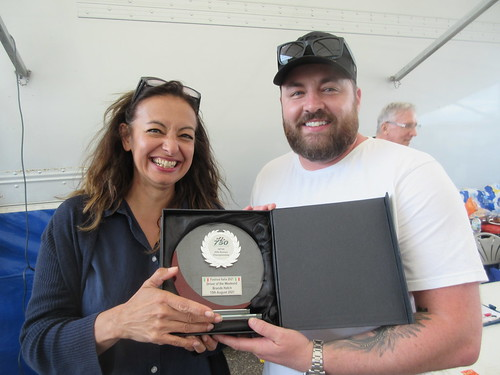 Driver of thr Day at Brands Jon Billingsley with Shana Iaccarino