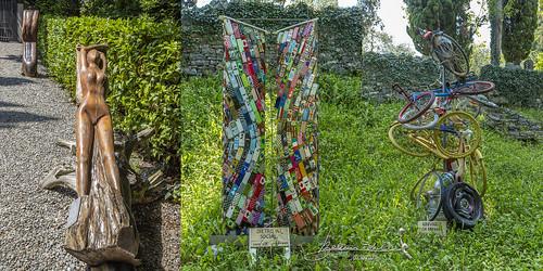 Castello di Vezio  Le sculture