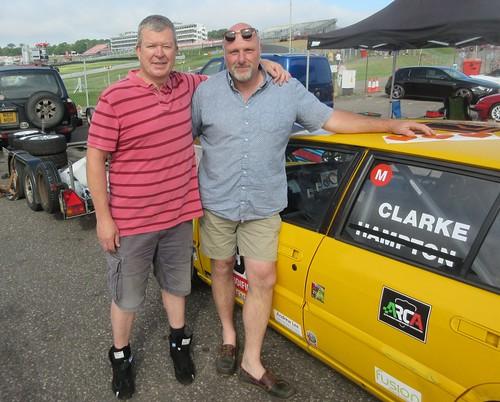 Doug Clarke and Simon Hampton shared Simon's 33