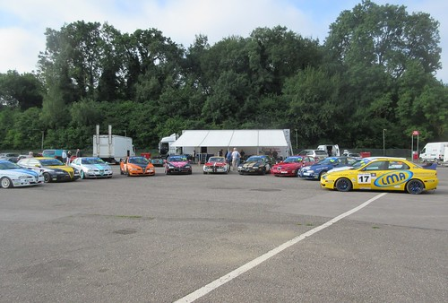 Bianco Alfas corralled at the start of the day