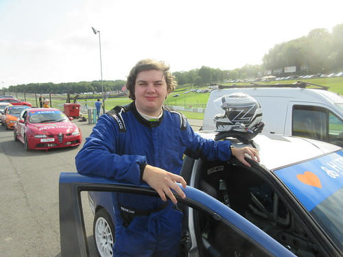 Adam Hiet before his first race of any kind