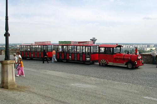 Tourist Train on the Castle Terrace, Bratislava, 11th August 2006