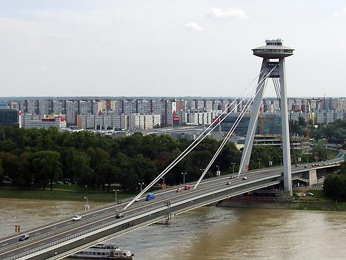 Nový Most (New Bridge), Bratislava, 11th August 2006 (2)