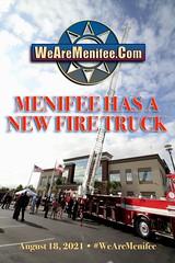 Menifee Debuts New Fire Ladder Truck at Ribbon Cutting