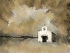 Mission Mary (Calera Chapel), Balmorhea / Toyahvale, TX. Abstract redux