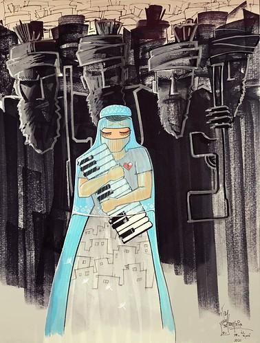 Shamsia Hassani #artedistrada 🎨 #graffiti #writer 🌈 #pace #afghanistan 👠#noviolenzasulledonne #peace 🎥#elettritv📲💻 #webtv #musicaoriginale 🎶 #shamsiahassani 🌹 #canalemusicale #webtvmusicaorigi