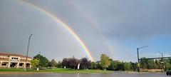 August 21, 2021 - Beautiful double rainbow.  (David Canfield)