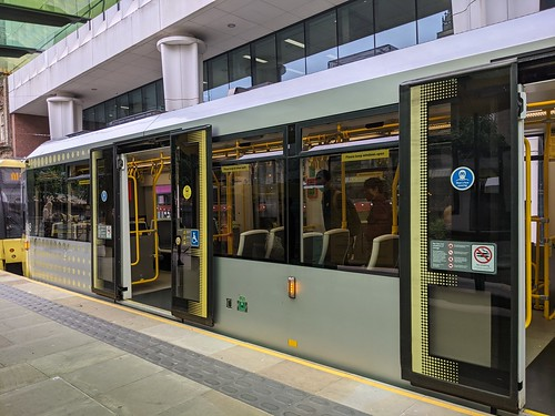 Tram at St Peter's Square Station