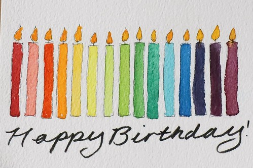 Hand-painted birthday candles, by Charlotte Emily