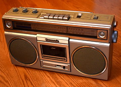 Vintage Panasonic Boombox, Model RX-5010, AM-FM-FM Stereo Radio With Cassette Recorder, Made In Japan, Circa 1981