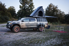 With over 20 premium off-roading features, the GMC Canyon AT4 OVRLANDX concept was designed to be everything an overlanding enthusiast needs. Confident capability comes from features like the truck's heavy-duty front bumper with winch, front and rear elec