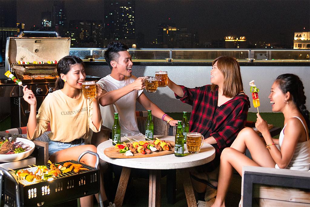 高雄英迪格-Pier No.1高空酒吧烤肉專案