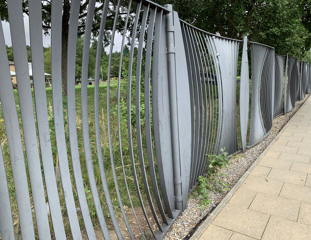 Metal Fence At Portishead