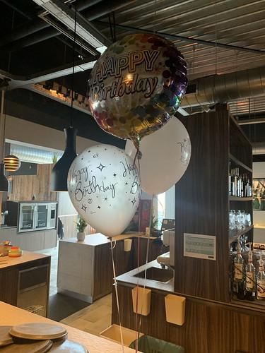 Tafeldecoratie 3ballonnen Verjaardag Watertuin Spijkenisse