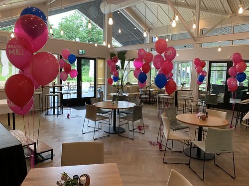 Tafeldecoratie 7ballonnen Gronddecoratie Bedrukt Abel Rhoon Brand Me Rotterdam