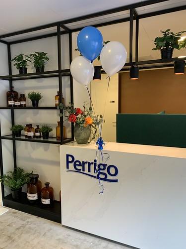 Tafeldecoratie 3ballonnen Perrigo Rotterdam