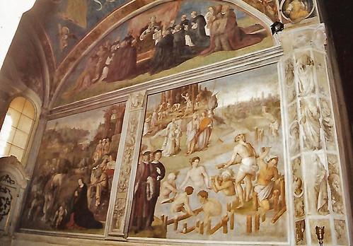 Lucca, Basilica San Frediano, Wundertätige Ableitung des Serchio durch San Frediano