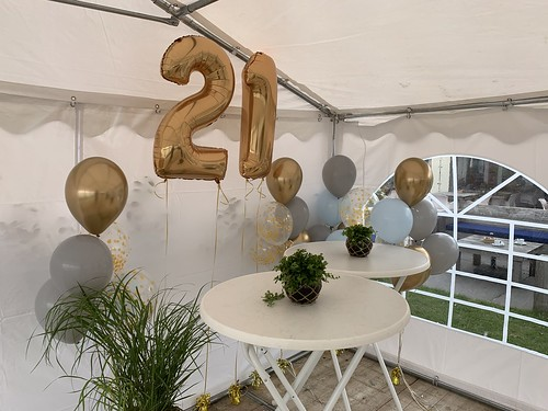 Folieballon Cijfer 22 Storm Beachbar & Bistro Zevenhuizerplas Rotterdam