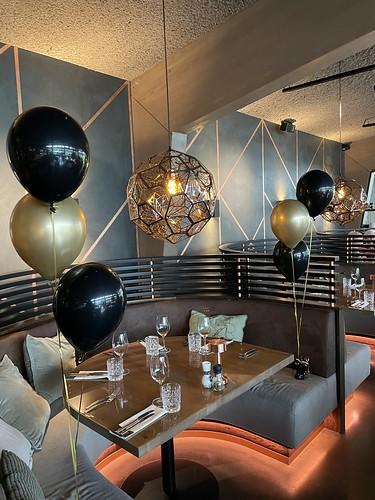 Tafeldecoratie 3ballonnen Lake House Rotterdam