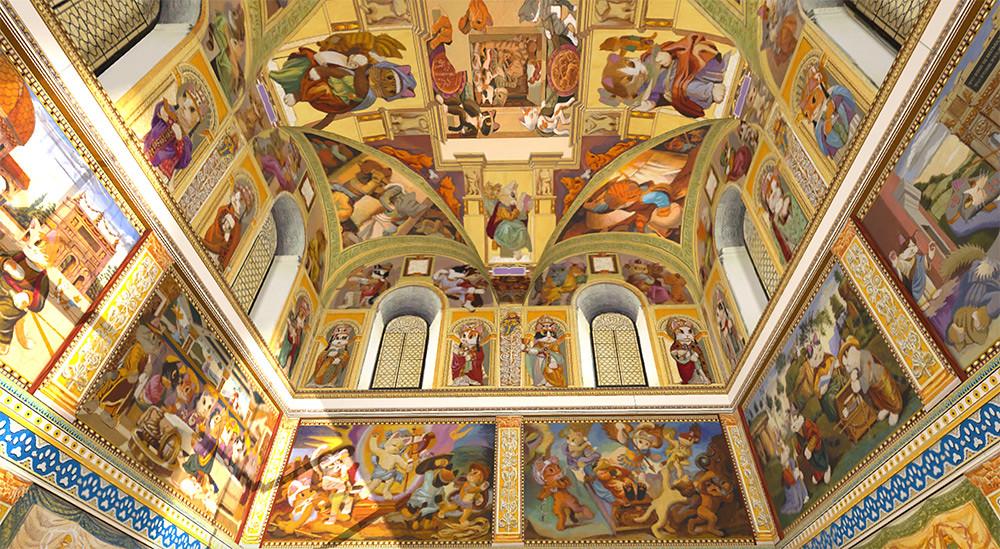 圖3-3.「貓斯汀大教堂」首次展出-124-幅完整畫作,完美重現教堂磅礴壁畫!
