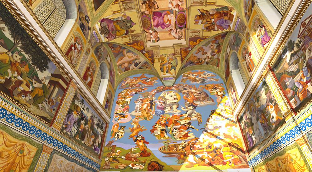 圖3-2.「貓斯汀大教堂」首次展出-124-幅完整畫作,完美重現教堂磅礴壁畫!
