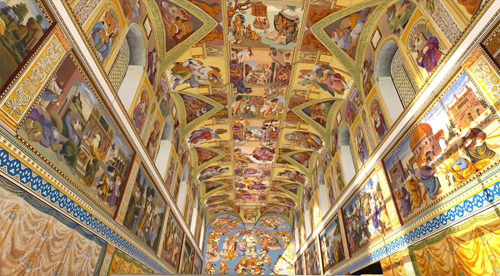 圖3-1.「貓斯汀大教堂」首次展出-124-幅完整畫作,完美重現教堂磅礴壁畫!